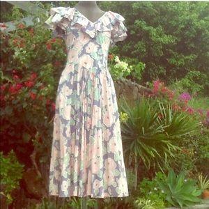 Vintage LAURA ASHLEY floral garden party dress